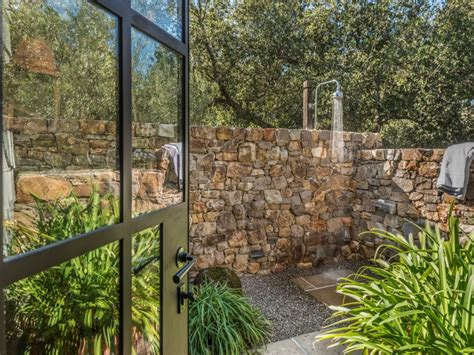 Outdoor Showers For Sale by Rustic And Refined Calistoga Compound Is Listed For 21m