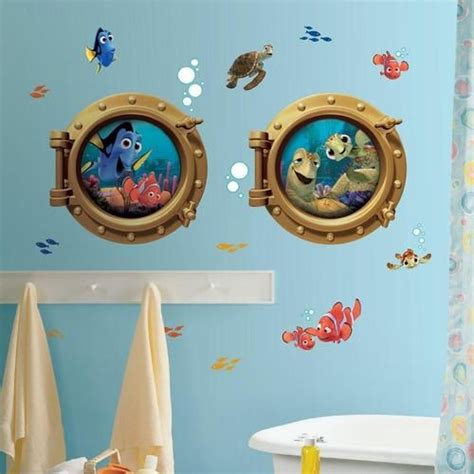 kids bathroom wall stickers new giant finding nemo wall decals kids bathroom stickers