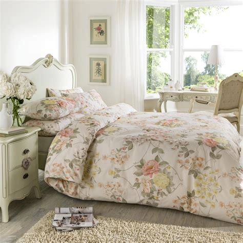 duvet bedding sets vantona eleanor floral design duvet cover set peach