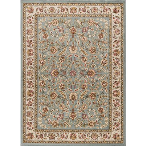 6 X 12 Area Rug Tayse Rugs Laguna Blue 9 Ft 3 In X 12 Ft 6 In Indoor Area Rug 5076 Blue 9x13 The Home Depot