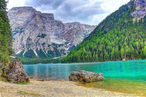 Small Villages by Pragser Wildsee Lago Di Braies Italy World For Travel
