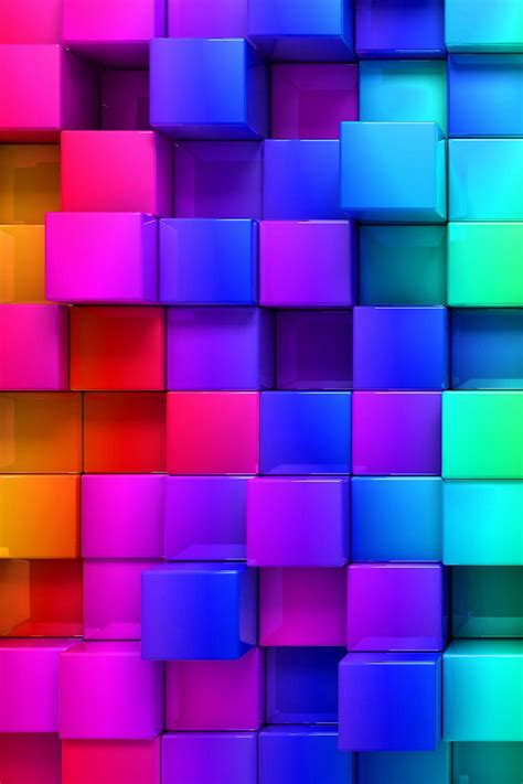 colorful wallpaper iphone 4 3d colorful cubes wallpaper free iphone wallpapers