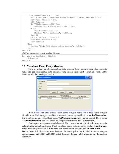 Mengembangkan Aplikasi Basis Data Menggunakan Visual Basic membangun aplikasi database oracle menggunakan visual basic