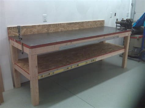metal bench plans steel workbench top best house design great ideas steel