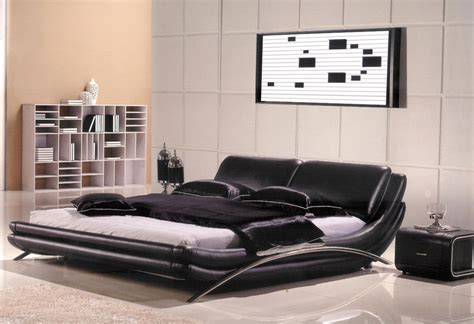 contemporary queen bedroom set 3pc modern queen leather bedroom set am b8223 q ebay