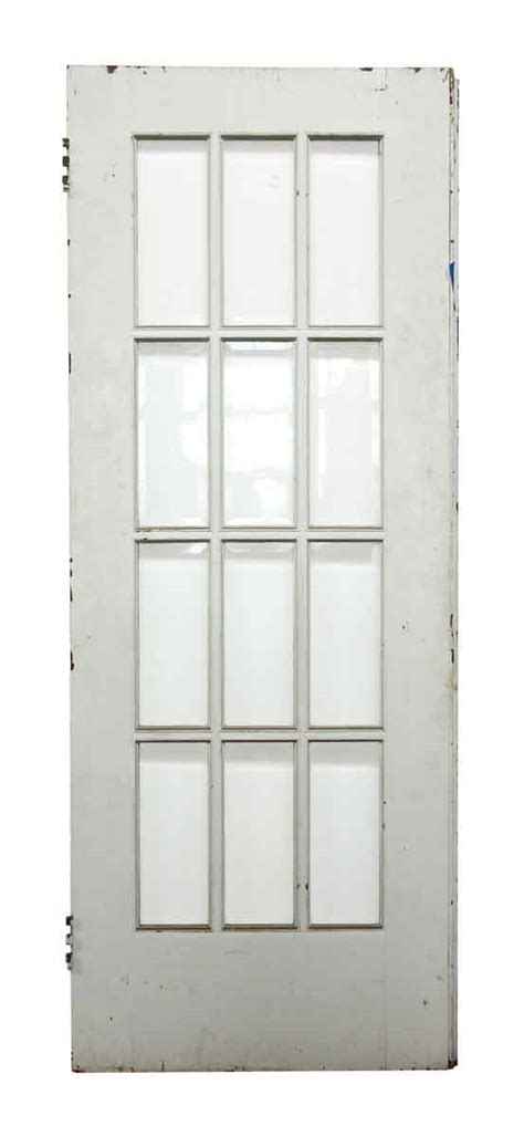 White Glass Panel Interior Doors 12 Beveled Glass Panel White Wooden Door Olde Things