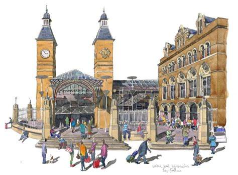 house painters liverpool a painting of liverpool street station london
