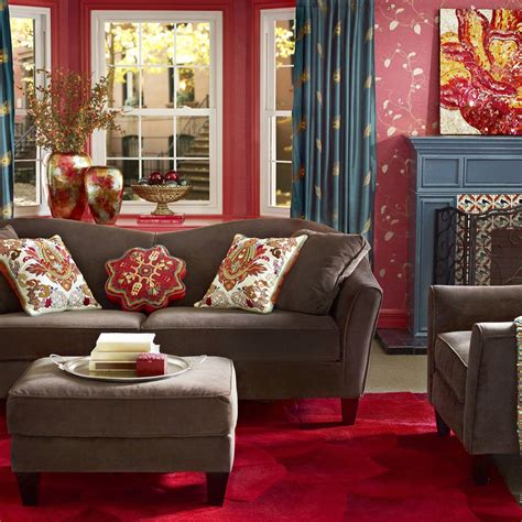 red and blue home decor home decor fabrics interior living room decor items with
