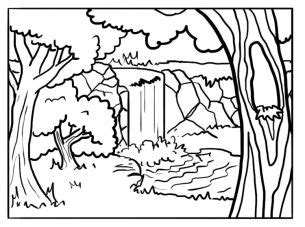 coloring pages of background forest background coloring pages google search sabbath