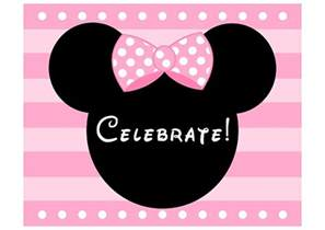 Baby Mickey Mouse Wall Stickers free pink minnie mouse birthday party printables catch