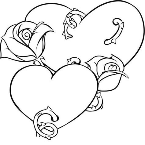 coloring pages of hearts and roses roses and hearts coloring pages coloring home
