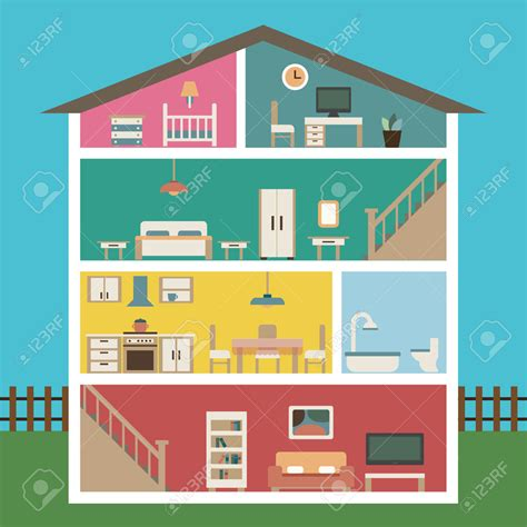 Section 8 4 Bedroom Houses For Rent house cutaway clip art 37