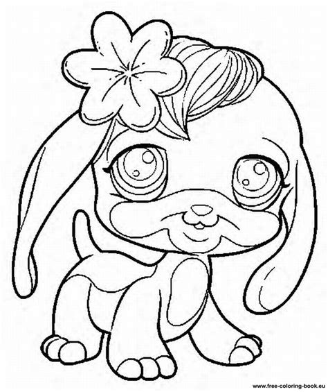 free coloring pages of little miss pet shop