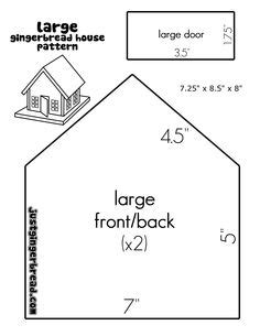 large gingerbread house template printable gingerbread house templates ideas on pinterest