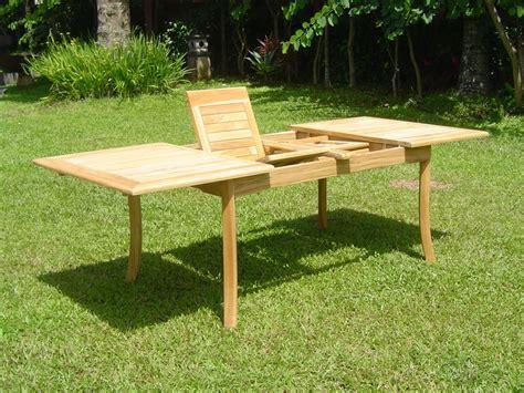 Teak Garden Furniture Grade A 94 Quot Rectangle Table A Grade Teak Wood Garden Outdoor