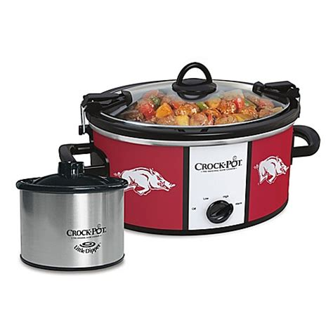 bed bath beyond crock pot collegiate crock pot 174 cook carry slow cooker with