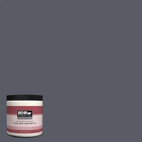 behr premium plus ultra 8 oz 760f 6 distant thunder interior exterior paint sle 760f 6u