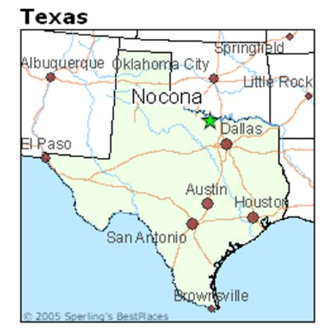 nocona texas map best places to live in nocona texas