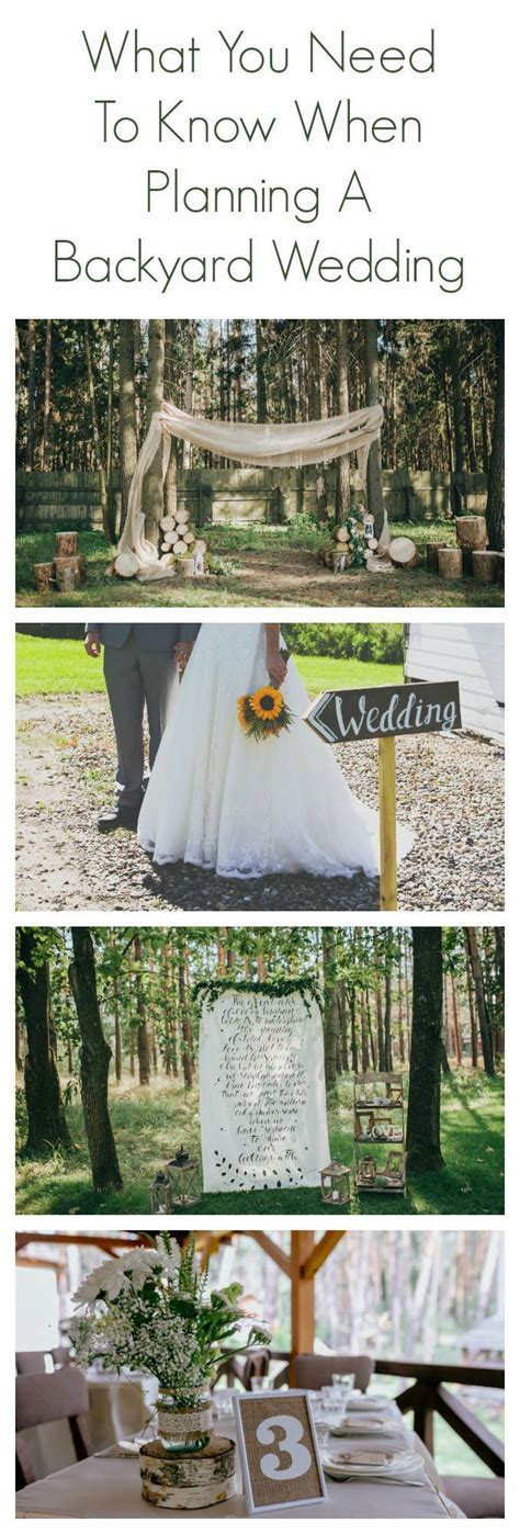 25  best ideas about Backyard wedding receptions on