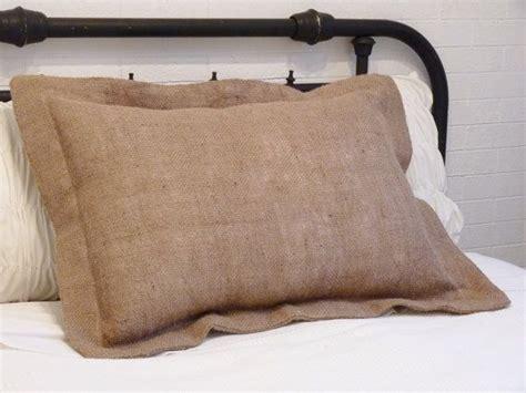 Pillow Sham Measurements by Burlap Pillow Sham Standard Size