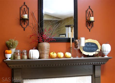 autumn mantel and exterior seasonal decor burger