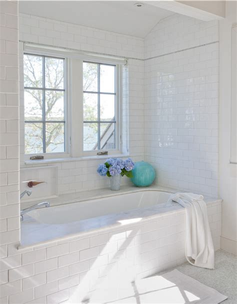 Subway Tile Bathroom Floor Ideas Classic Shingle Cottage With Neutral Interiors