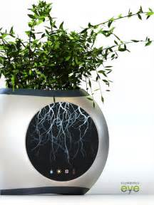 Pot Flowers Kaleng flowerpot eye allows you to see the root system of a plant