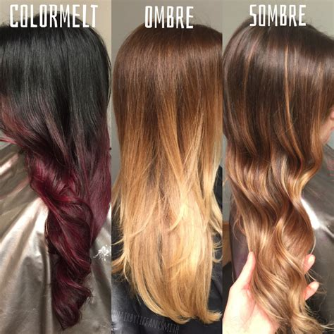 what is a sombre hair the difference between colormelt ombre and sombre hair