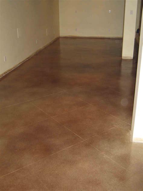 water based stains enhances    basement floors