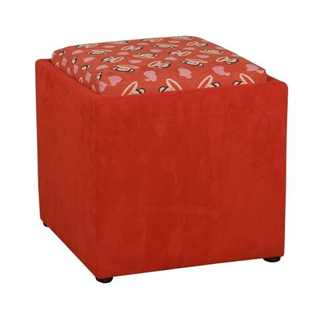 red ottomans dreamfurniture com paul frank 174 love ottoman red