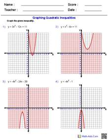 graphing quadratic functions worksheets davezan