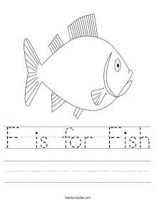 f is for fish worksheet twisty noodle