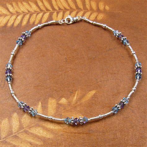 pretty feminine sterling silver ankle bracelet with
