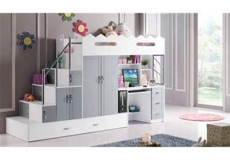 lit avec bureau pour fille lit superpose avec bureau pour fille visuel 3