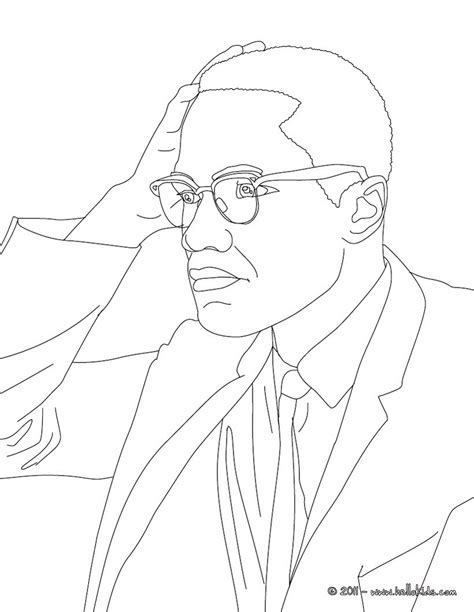 Malcom X Coloring Pages Hellokids
