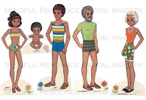 printable paper doll family printable the happy family paper dolls vintage by