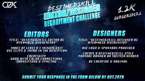 design editor unavailable until a successful build destined2kill quot editor designer quot rc closed youtube