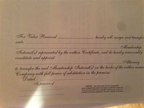 How To Fill Out An Llc Membership Certificate Legalzoom Stock Certificate Template