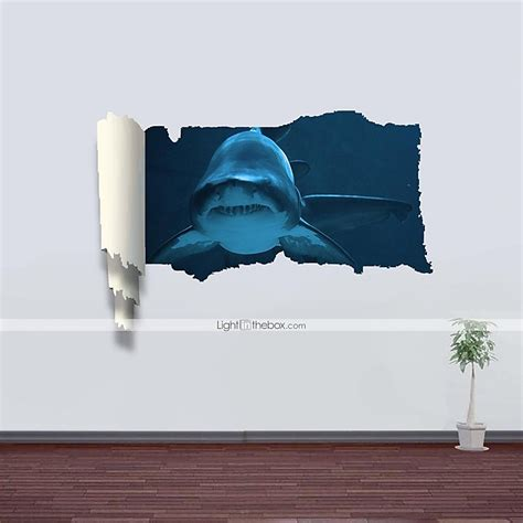 3d wall stickers for 3d wall stickers wall decals shark decor vinyl wall stickers 2697677 2017 23 99