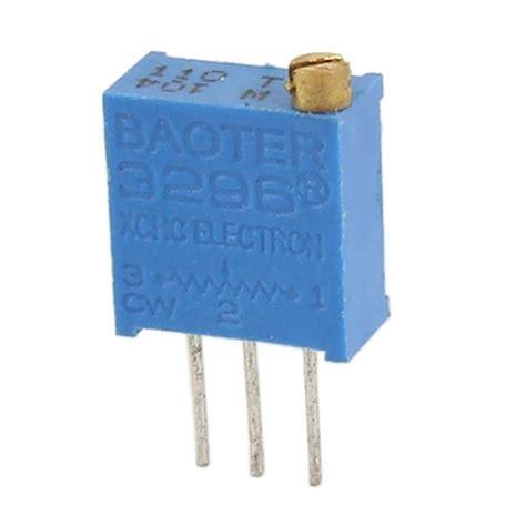 100k trimmer resistor boater 3296 100k ohm cermet potentiometer trimpot trimmer 2 pack oddwires