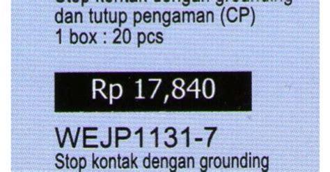 Stop Kontak Ib Wejp 1131 7 Panasonic stop kontak panasonic non cp wejp 1131 7 saklar panasonic