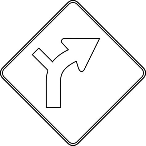 Road Sign Outlines by Combination Horizontal Alignment Intersection Outline Clipart Etc