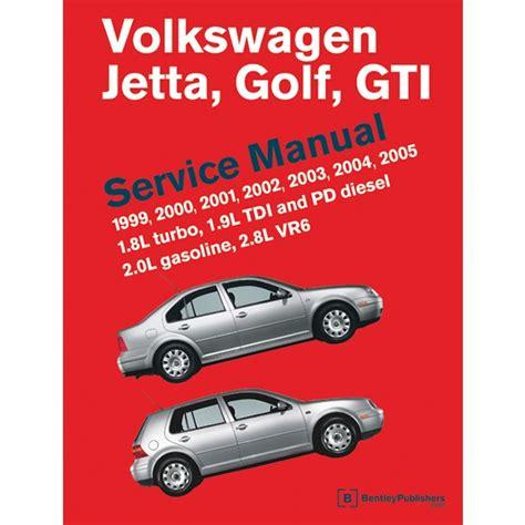 Volkswagen Golf Jetta Gti Gli 1999 2005 Mk4 Service Manual