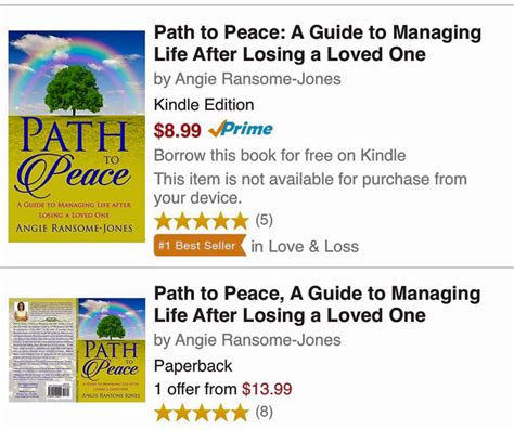 at peace choosing a after a books path to peace a guide to managing after losing a