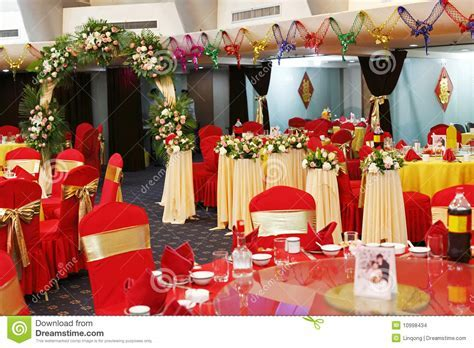 Decoration In Wedding Banquet Stock Photo   Image of