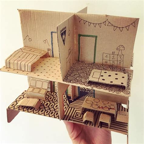 cardboard doll house 25 best ideas about cardboard dollhouse on pinterest cardboard kids house doll