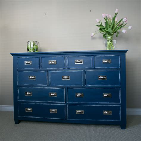 chalk paint dresser navy blue color napoleonic blue sloan room nautical dresser