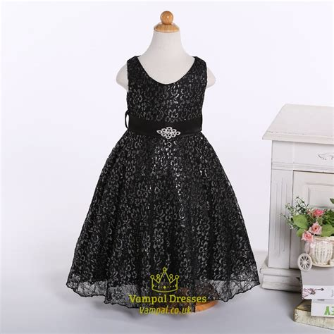 beaded flower dresses chagne a line lace flower dress with beaded