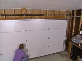 installing a garage door how tos diy