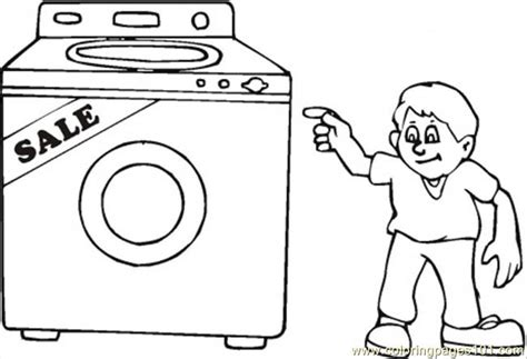 coloring pages kitchen appliances buy washing machine on the sales coloring page free home